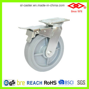 125mm Rotating High Elastic Rubber Wheel (P701-34FK125X50) pictures & photos