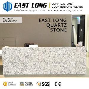 New Design Marble Look Quartz Stone for Wall Panels/Vanity Tops with Polished Stone Surface pictures & photos