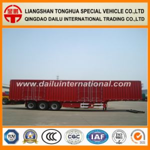 Gooseneck Van Type Truck Trailer Cargo Transport Box Semi-Trailer pictures & photos