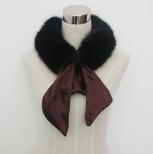 Lady Fashion Faux Fur Scarf with Satin Strap (YKY4341) pictures & photos