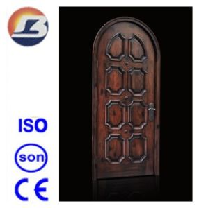 High Quality Elegant Exterior Interior Meranti Solid Wooden Door pictures & photos