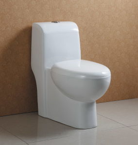 One-Piece White Ceramic Wc at-539 pictures & photos