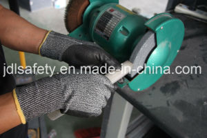 Hppe Safety Working Glove with Nitrile Coating (PD8032) pictures & photos