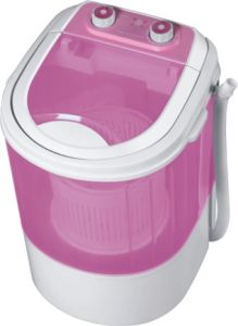 Mini Washing Machine with Pink Color Transparent Cover