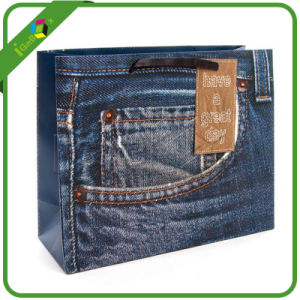 Handmade Paper Bags Designs for Jeans pictures & photos