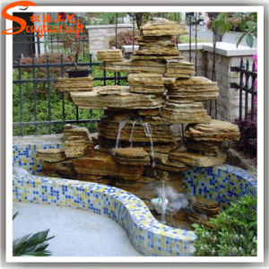 Guangzhou Supplier Artificial Home Decoration Rock Waterfall pictures & photos