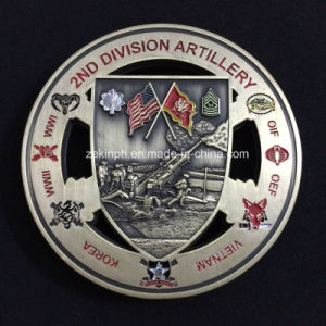 Custom Double Sides 3D Military Coins for Souvenir pictures & photos