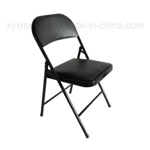 Metal Frame Leather Folding Chair pictures & photos