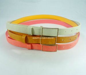 New Design Lady PU Belt with Auto Buckle (EUBL0992-25)