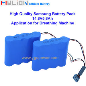 Hight Quality Lithium Battery for Breathing Machine (CPAP) 14.8V4.4ah