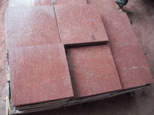 Red Porphyry Paving Tiles Granite Paving Stone pictures & photos