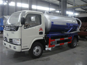 Practical 3000L 95HP Sewage Suction Truck with Dongfeng Chassis pictures & photos