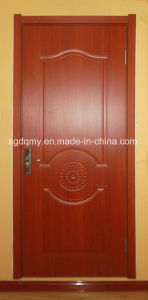 Teak Molded Melamine MDF/HDF Door with Frame