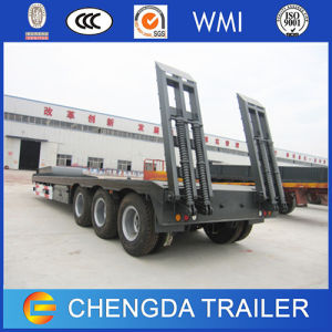 3 Axles 60ton Low Bed Semi Truck Trailer for Sale pictures & photos