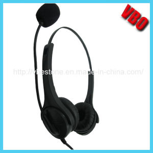 Stylish Metal Band Wired Micro IP Telephone Computer Headphone pictures & photos