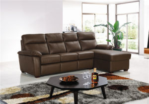 Extended Leather Sofa with Mattress pictures & photos