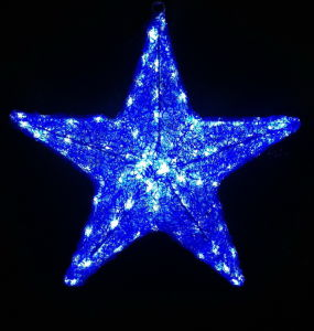 Crystal Sculpture 3D Christmas Hanging Star Light for Street Decoration pictures & photos