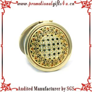 Hollow Compact Mirror with Small Diamond (JY-CM-009)