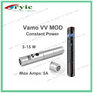 100% Pure Stainless Steel E-Cigarette Vamo VV Mod with Metal Buttom