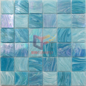 Green Blue Latest New Glass Swimming Pool Mosaic Tiles (CSJ119) pictures & photos