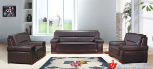High Quality Modern Office Leather Sofa Set (WP5-3006)