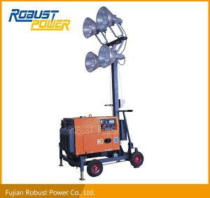 Wide Range Long Lasting Operation Portable Diesel Light Tower pictures & photos