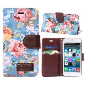 Fashion Flower Canvas and PU for iPhone 6 Case (KCI31-4) pictures & photos