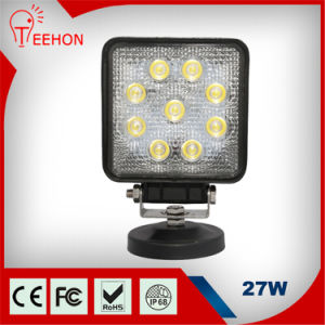 Popular Square 27W Commercial Electric LED Work Light for Truck LED Work Light pictures & photos