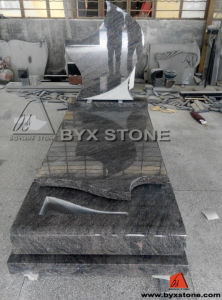 Newly Design Blue Granite Monument / Headstone for Cemetery pictures & photos