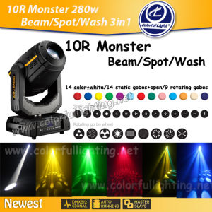 280W Beam Spot Wash 3 in 1 10r Moving Head Stage Light