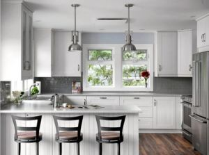 Free Sample White Modern High Gloss Smart Led Kitchen Cabinet