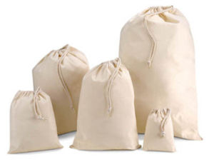 Promotional 100% Cotton Drawstring Bag with Rope pictures & photos