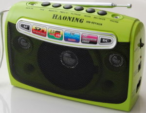 Portable Radio with USB/SD and Rechargeable Battery (HN-9014UAR)