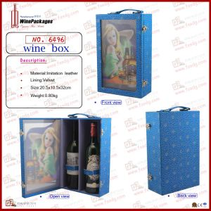Fancy 3D Printing Two Bottles Wine Box (6496) pictures & photos
