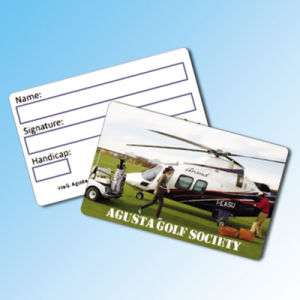 Overlay Plastic Greeting Visit Card with Signature Panel