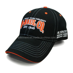 Constructed Embroidery Sandwich Cotton Twill Sport Baseball Cap (TRB081) pictures & photos