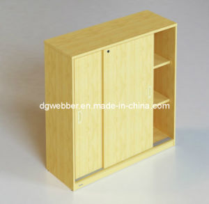 Office Wooden Sliding Door Cabinet pictures & photos