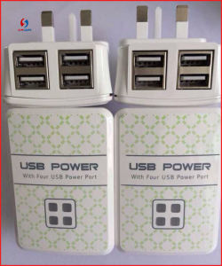 Top Quality 4 Ports USB Charger for iPhone/iPad/Galaxy pictures & photos