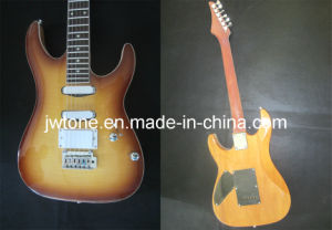 Flamed Maple Top Arched Body Electric Guitar pictures & photos