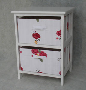 Wooden Cabinet with 2 Fabric Drawers (ZLC08-736)