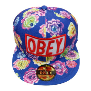 Custom Floral Peak Fitted Cap/Snapback Cap with Logo pictures & photos