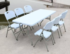 6ft Rectangle Plastic Banquet Dining Folding Table (SY-183Z) pictures & photos