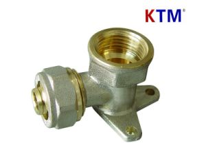 Brass Pipe Fitting - Wall-Plated Female Elbow (cold and hot water pipe fitting) pictures & photos