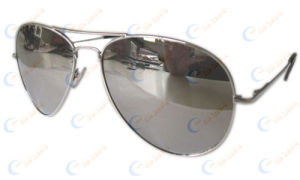 Mirrored Lens Sunglasses W/ Spring Hinges (1097)