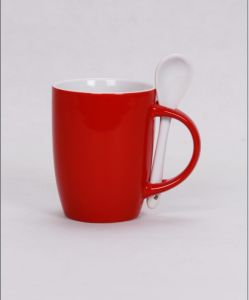 Coffee Mug with Spoon, Promotion Spoon Mug pictures & photos