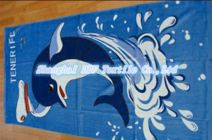 Velour Reactive Print Beach Towel on Big Sale (DPF201620) pictures & photos