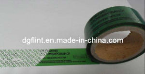 Tamper Evident Security Sealing Tape Security Label Tape