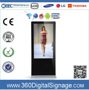 47 Inch 1080P Standing Digital Advertising Screens with Network 3G/WiFi for Bank