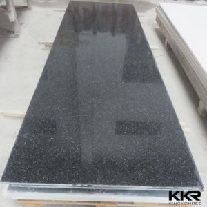 12mm Pure Black (KKR-M1718) Acrylic Solid Surface Sheet pictures & photos