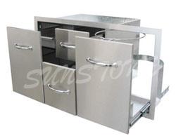 "42"" Multi-Purpose Combo Storage for Outdoor Kitchen"